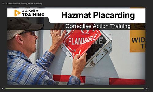 Corrective Action Training: Hazmat Placarding