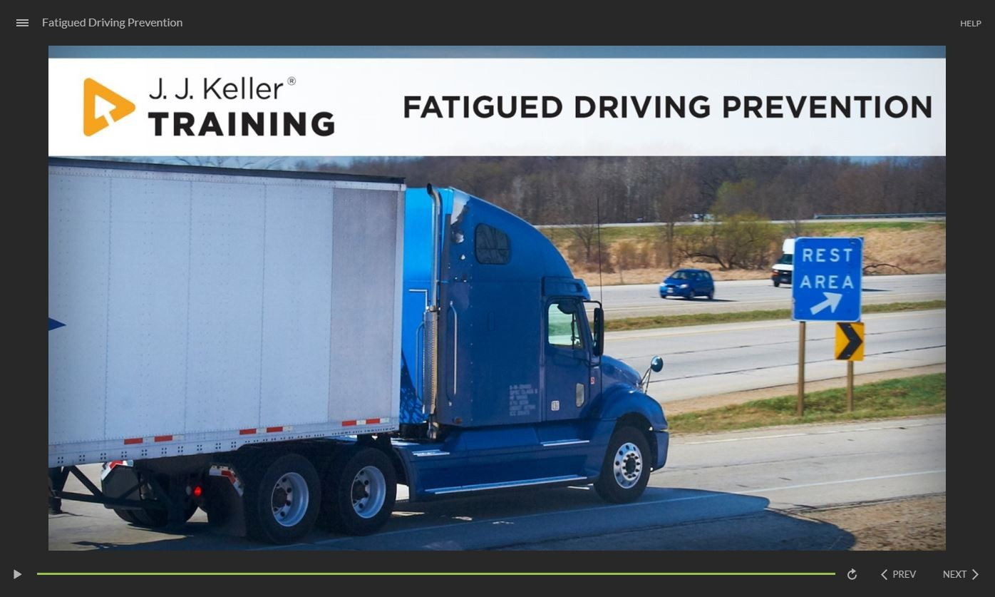 Fatigued Driving Prevention Training